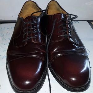 COLE HAAN Burgundy Leather Lace Up Size 11.5 D